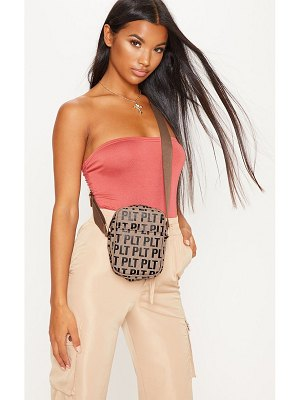 PrettyLittleThing mono cross body bag