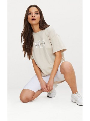 PrettyLittleThing oversized slogan t shirt