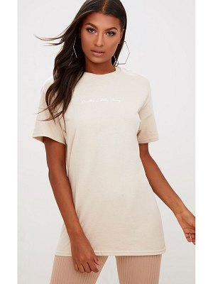 PrettyLittleThing slogan oversized t shirt