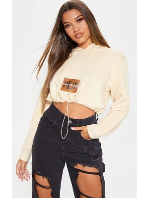 PrettyLittleThing pocket toggle crop hoodie