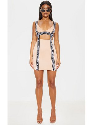 PrettyLittleThing prettylittlethingtape detail cut out bodycon dress