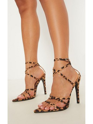 PrettyLittleThing print point toe strappy sandal