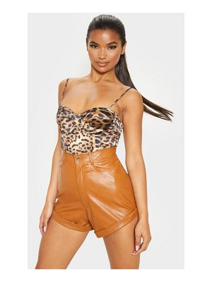 PrettyLittleThing print structured corset top