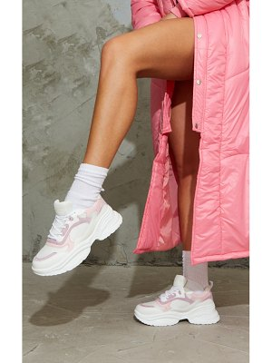 PrettyLittleThing pu contrast chunky ridged sole sneakers