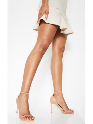 PrettyLittleThing pu thin strap square toe strappy sandal