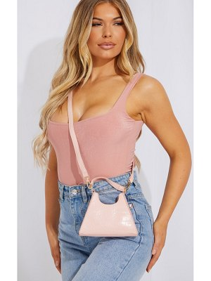 PrettyLittleThing pu triangle mini cross body bag