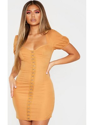 PrettyLittleThing puff sleeve bodycon dress