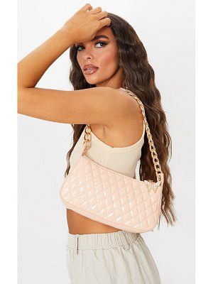 PrettyLittleThing quilted gold chain diamante butterfly cross body bag