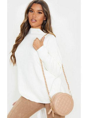 PrettyLittleThing quilted pu circle cross body bag