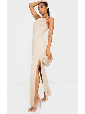 PrettyLittleThing racer neck low back maxi dress