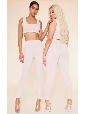 PrettyLittleThing recycled deep pinstripe leggings
