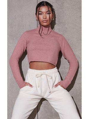 PrettyLittleThing recycled funnel neck crop sweater