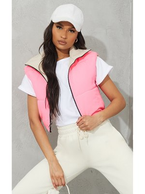 PrettyLittleThing reversible cropped gilet