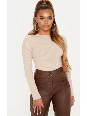 PrettyLittleThing rib crew neck long sleeve top