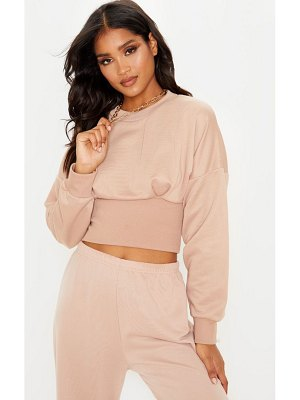 PrettyLittleThing rib extreme hem crop sweater