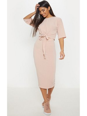 PrettyLittleThing rib high waisted midi skirt