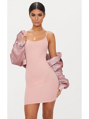 PrettyLittleThing rib knit strappy dress