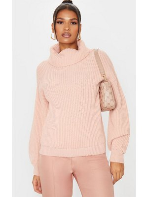 PrettyLittleThing rib oversized roll neck sweater
