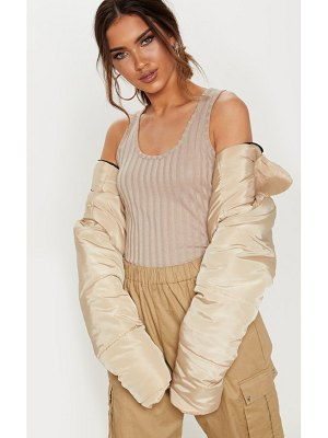 PrettyLittleThing rib scoop neck vest