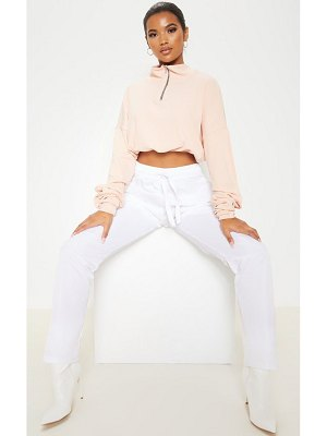 PrettyLittleThing rib zip front long sleeve sweater