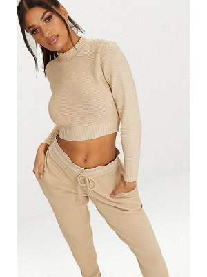 PrettyLittleThing ribbed cropped knitted sweater
