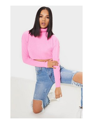 PrettyLittleThing ribbed cropped roll neck sweater