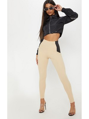 PrettyLittleThing ribbed elastic side panel legging