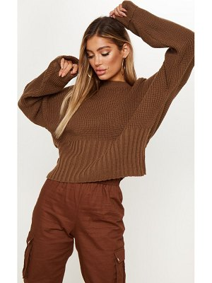 PrettyLittleThing ribbed hem knitted sweater