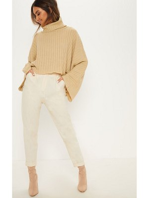 PrettyLittleThing ribbed knit high neck sweater