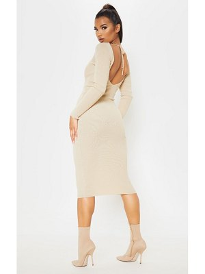 PrettyLittleThing ribbed knitted maxi dress