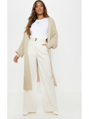 PrettyLittleThing ribbed knitted midi cardigan