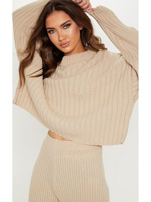 PrettyLittleThing ribbed knitted oversized sweater