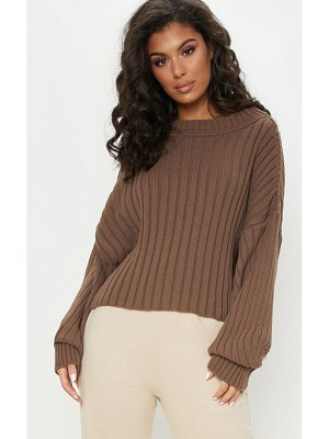 PrettyLittleThing ribbed knitted sweater