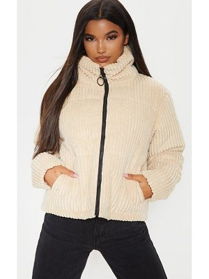 PrettyLittleThing ribbed textured oversized puffer