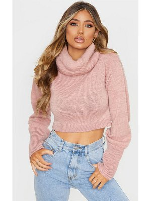 PrettyLittleThing roll neck cropped sweater