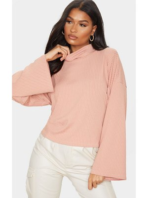 PrettyLittleThing dusty pink roll neck oversized sweater