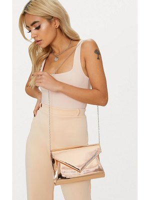 PrettyLittleThing rose gold chain cross body bag