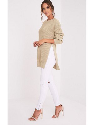 PrettyLittleThing round neck side split sweater