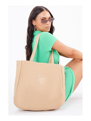 PrettyLittleThing round wellness tote bag