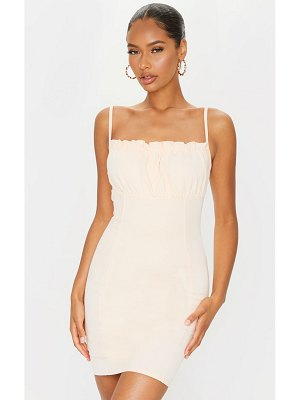 PrettyLittleThing ruched bust strappy bodycon dress