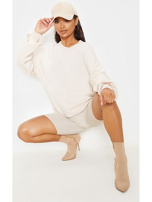 PrettyLittleThing ruched sleeve oversized sweater