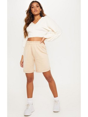PrettyLittleThing ruched waist sweat short