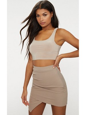 PrettyLittleThing ruched wrap mini skirt