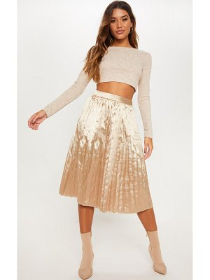 PrettyLittleThing satin pleated midi skirt