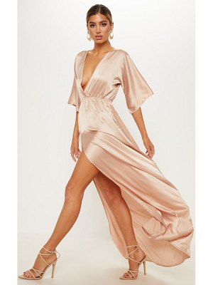 PrettyLittleThing satin split leg maxi dress