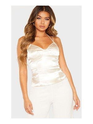 PrettyLittleThing satin strappy cami top