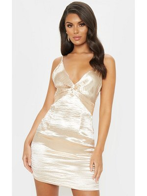 PrettyLittleThing satin strappy knot detail shift dress