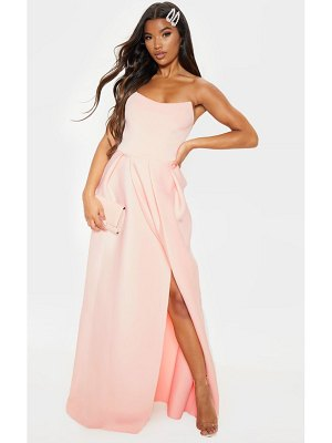 PrettyLittleThing scuba bandeau maxi dress