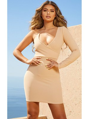 PrettyLittleThing second skin asymmetric strap bodycon dress