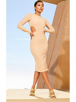 PrettyLittleThing second skin cut out side midi dress